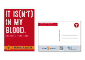 Postkarte Blutwerte