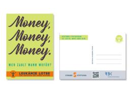 Postkarte zum Thema Geld