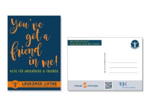 Postkarte für Angehörige und Freunde