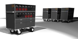 Transportwägen für Audiogeräte