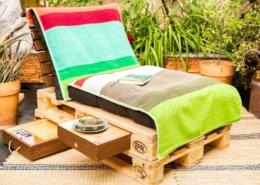 Palettenmöbel mit Schublade DIY